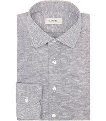 camicia da uomo su misura, canclini, cotone azzurro piquet, quattro stagioni | lanieri