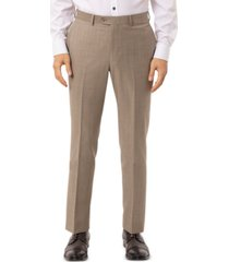 tallia men's slim-fit olive sharkskin suit separate pants