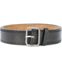 dsquared2 braided buckle belt - black