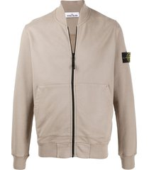 stone island long-sleeved zipped sweater - brown