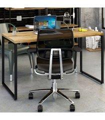 mesa para escritório office kuadra carvalho 8397 - compace