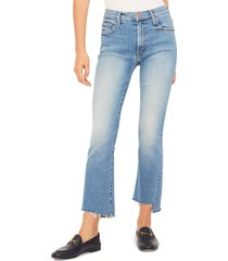 women's mother the insider crop step fray jeans