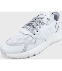 tenis lifestyle blanco adidas originals nite jogger