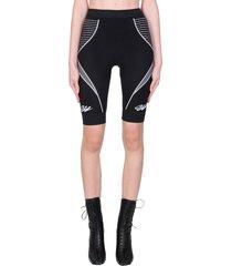 off-white athleis seamles shorts in black polyamide