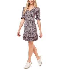 cece poppy-print ruffled dress