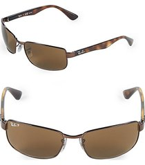 60mm polarized rectangle sunglasses