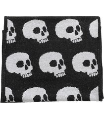 palm angels allover skull scarf