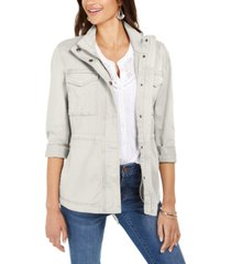 style & co twill jacket, created for macy's