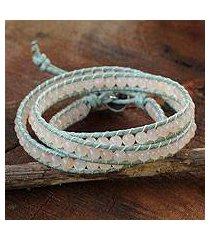 pink aventurine wrap bracelet, 'romantic rose' (thailand)
