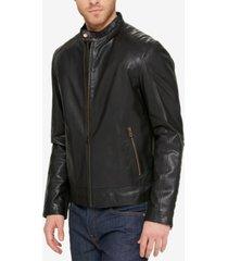 cole haan men's leather jacket