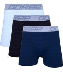 kit 3 cuecas boxer new skin dorbe