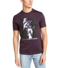 ax armani exchange men's fingers crossed ax logo graphic t-shirt