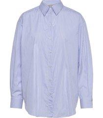 gina blue stripe overhemd met lange mouwen blauw dagmar