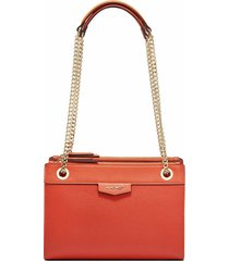 cartera crossbody cara a list nine west - naranja