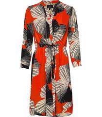slfdamina 7/8 aop dress b jurk knielengte multi/patroon selected femme