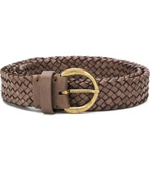 officine creative rope woven belt - brown