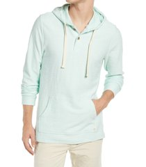 marine layer men's clayton classic fit beach hoodie, size xx-large in fair aqua at nordstrom
