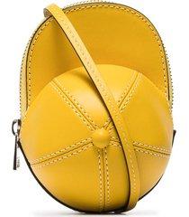 jw anderson nano cap shoulder bag - yellow