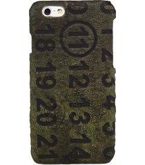 maison margiela men's military leather iphone 7 plus case - black