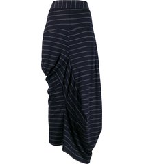 chalayan striped draped skirt - blue