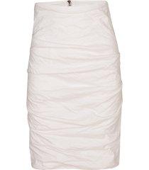 white cotton metal sandy skirt