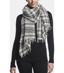 sarti cashmere wool plaid scarf