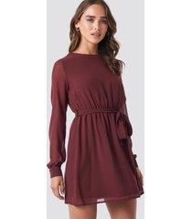 na-kd chiffon dress - red
