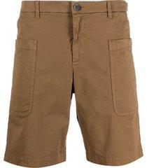 barena straight-leg bermuda shorts - brown