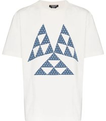 triangle print cotton t shirt