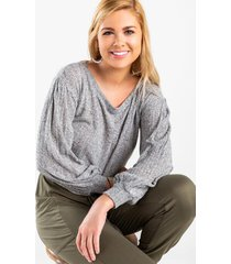 kamm pullover top - heather gray