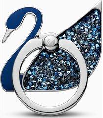 anello adesivo swan, azzurro, acciaio inossidabile