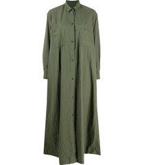 daniela gregis longline shirt dress - green