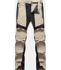 pantalone antivento da arrampicata patchwork da uomo casual casual a contrasto rapido colore pantaloni