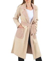 abrigo buffy beige guinda