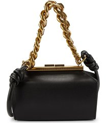 stella mccartney women's faux-leather structured shoulder bag - black