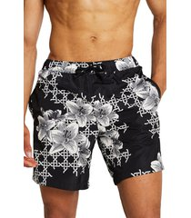 river island swim shorts, size small in black at nordstrom
