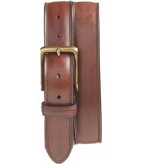 men's bosca the jefferson leather belt, size 32 - dark brown