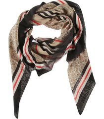 burberry frayed scarf
