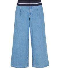 pantaloni culotte di jeans con elastico (blu) - john baner jeanswear