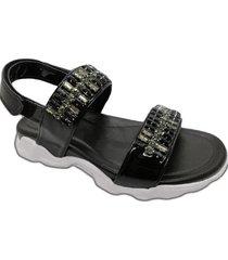 sandalia negra abryl calzados