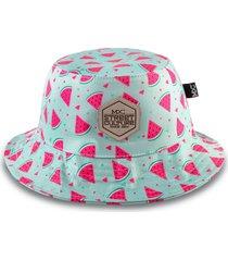 chapéu bucket multcaps mxc melancia azul