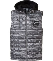 ecko unltd men's flyknit quilted hooded vest