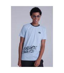 camiseta ecko estampada azul