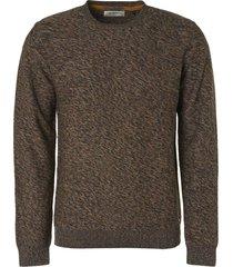 no excess pullover creweck multi-color organi dark grey