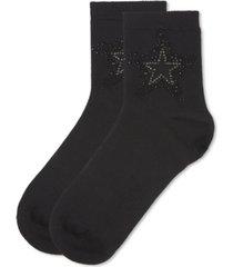 starstruck rhinestone women's anklet socks