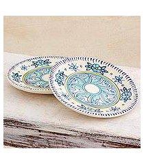 ceramic plates, 'bermuda' (pair) (guatemala)