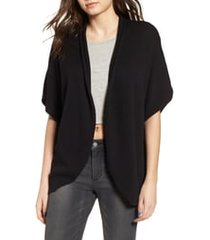 women's leith dolman sleeve cardigan, size small - black