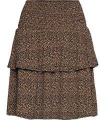 lifgz skirt knälång kjol brun gestuz