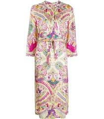 etro long silk-mix dress