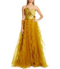 women's flor et. al veracruz ruffle organza ball skirt